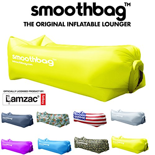 Inflatable Lounger and Indoor Outdoor Sofa: Lazybag Air Lounge Chair with Built-In Headrest | Banana Sleeping Bag, Hammock, Pool Float, Portable Camp Seat, Lazy Hangout Couch Bed (Green)