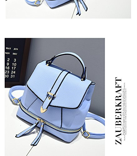 College Leather Teenage Small Oruil Mini Fashion Girls Ladys Shoulder PU Female Backpack Casual Blue Bag qPCFqHw