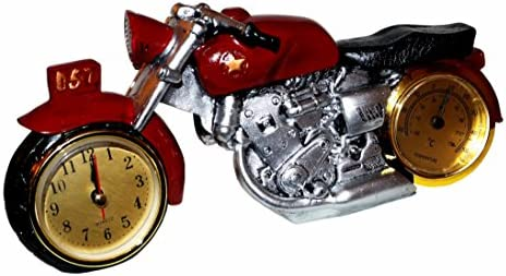 Motorrad Uhr Chopper Bike Quarzuhr Quarz Kaminuhr Tischuhr Clock Motorcycle Deko