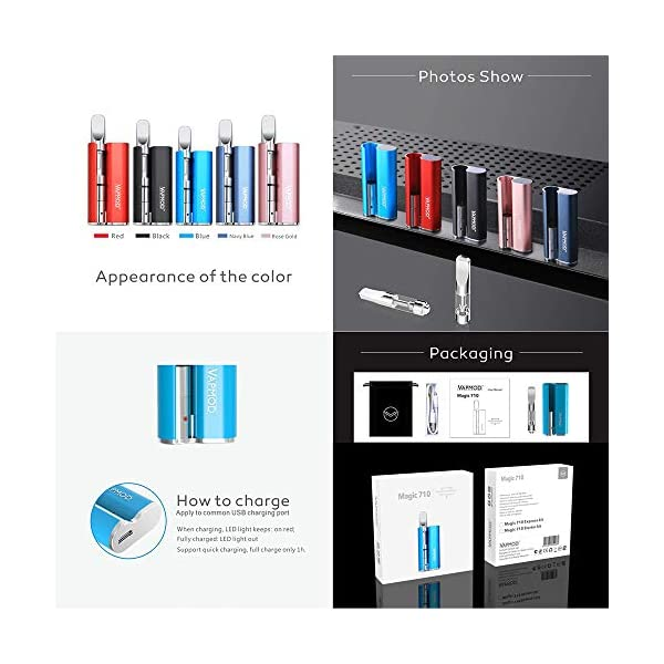 CBD Vape Box Kit Vaporizer CBD with 380Mah Battery Mod Rechargable USB Charing Variable Voltage for CBD Oil 0.5ml Cartridges Vape Kit Refilling Cartridges(No Nicotine) … (Black)