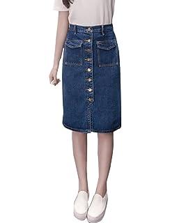 7442a9aa3 KRISP Falda Vaquera Mujer Corta Moda: Amazon.es: Ropa y accesorios