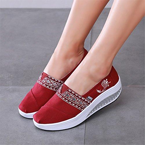 Estate Walking da Shoes Sneakers B amp; Wedge casual Heel per Shake Primavera Shoes SHINIK Fitness donna Party Autunno Evening rotonda Punta Scarpe FIBfvqwv