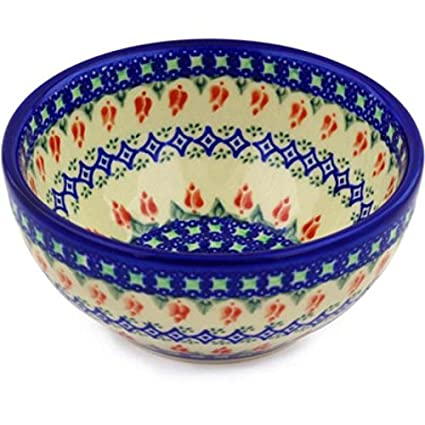 Buy Ceramika Bona 35 D24 Polish Pottery Unikat Boleslawiec Stoneware Ceramika Bona 6 Inch Bowl 24 Ounce Online At Low Prices In India Amazon In