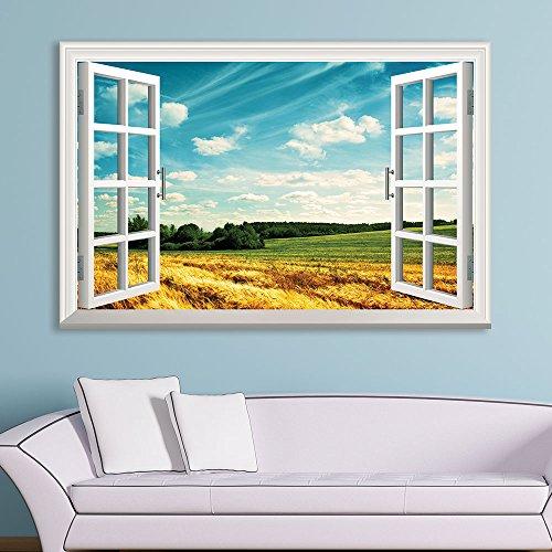 Window View an Open Wheat Field