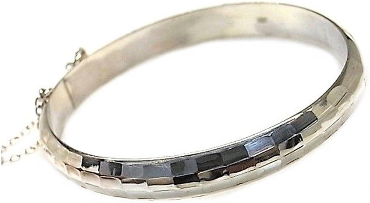 Pulsera plata Ley 925m media caña tallada 9mm. cierre lengüeta mujer: Amazon.es: Joyería