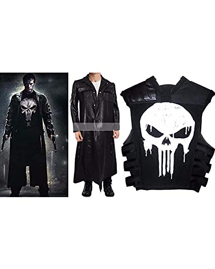 The Punisher Thomas Jane Frank Castle Costume Coat Vest