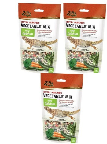 (3 Pack) Zilla Reptile Munchies for Pets, 4 Ounce with Calcium by Zilla
