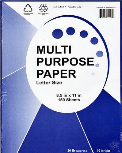 White Copy Paper - 150 sheets - 8.5'' x 11''