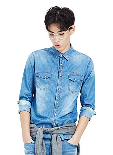 meters-bonwe-mens-classic-long-sleeve-button-down-denim-shirt-blue-xxl