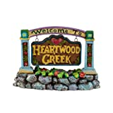 Department 56 Jim Shore Village Welcome To Heartwood Creek Sign Accesssory Figurine