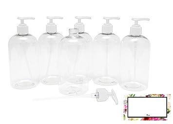 Amazon.com: BAIRE BOTTLES – 16 oz botellas de plástico ...
