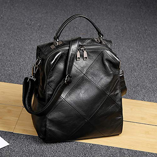 Black Sac A Main Epaule Sac Porté 13 Sac Sacs 25 à à Dos Sac Dos 26cm Femme Bandoulière Sac Cartable Travel à Cuir Mode Bag xSpFw0