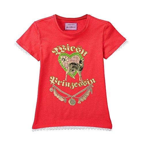Schiesser Mädchen Schlafanzugoberteil Shirt 1/2, Gr. 140, Rot (pink 504)
