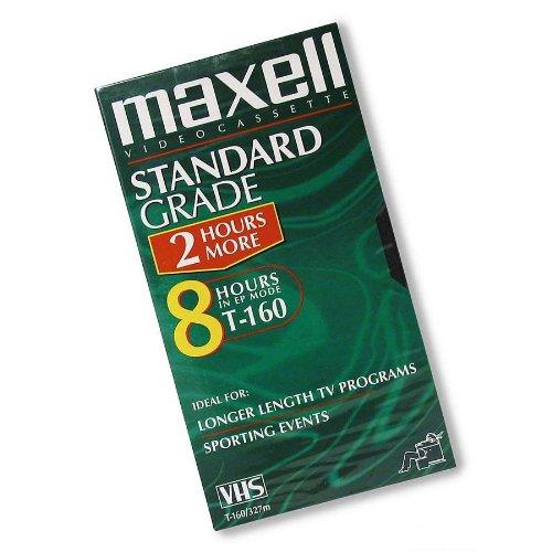 Maxell Standard Grade T-160 VHS Videotapes 10-Pack