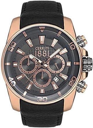 e4ab3d87bd Buy Cerruti 1881 Analog Black Dial Men's Watch-CRA129SR61BK Online at Low  Prices in India - Amazon.in