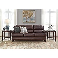 Ashley Furniture Signature Design -Glengary Sofa - Traditional Style Couch - Chestnut