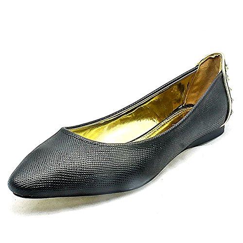 detalle alaron negro planos oras pie dedo se espalda del tachonado con el los con del zapatos Se EaF7qWcE