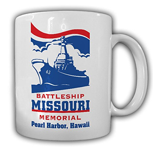 (Battleship Missouri USS Memorial MIGHTY MON. Federal Railway 63 US Navy battleship Iowa first-class marine Pearl Harbor Amerika Hawaii - Morning Coffee Mug #13188)
