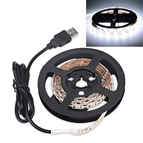WOSIDAN Waterproof DC 5V LED Strip Light Powered USB Cable Charger 5050SMD 50CM 1M 2M 3M 4M 5M TV Background Lighting Decor lamp (400CM, White)