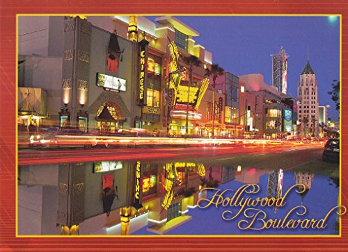 (TRKLA008 LA-242 HOLLYWOOD BOULEVARD - The new look of the World Famous Hollywood Boulevard POSTCARD showing the Chinese Theatre ... . from Hibiscus Express )
