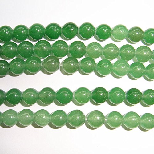 6 Mm Light Green (TheTasteJewelry 6mm Round Green Light Aventurine Beads 15 inches 38cm Jewelry Making Necklace Healing)
