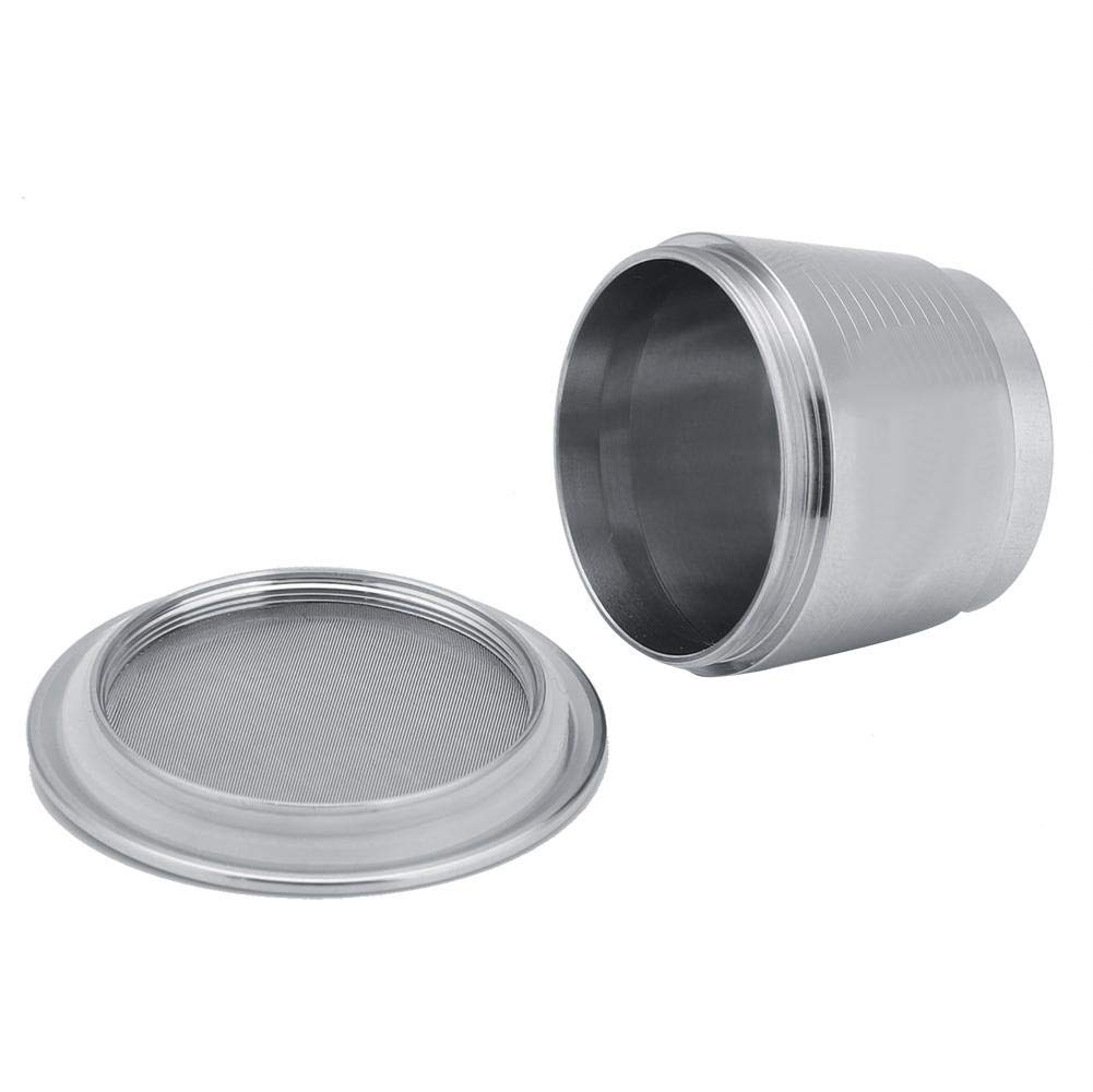 Ruond Stainless Steel Coffee Tamper with Reusable Coffee Capsule for Nespresso Capsule