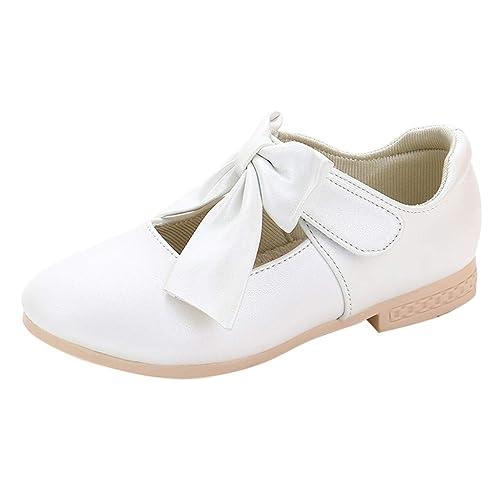 Staresen Filles Ballerines Chaussures de Princesse /étudiants Marche Simple L/éger Confortable Fleur Chaussures en Cuir