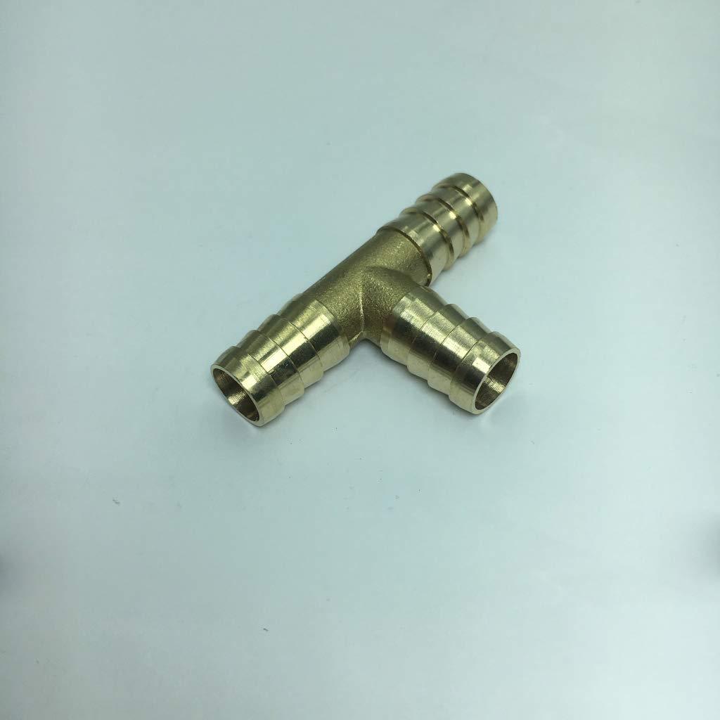 Or 10mm non-brand Coupleurs Barbel/é Laiton Filetages M/âles Tuyau Cannel/és Tuyaux de Queue T Raccord Pneumatique de Gaz