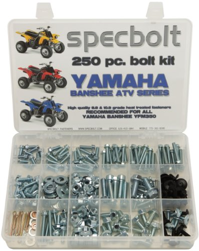 Atv Banshee - Specbolt Fasteners Bolt Kit: Yamaha - Banshee YFM350 Model Series ATV (250 pc)