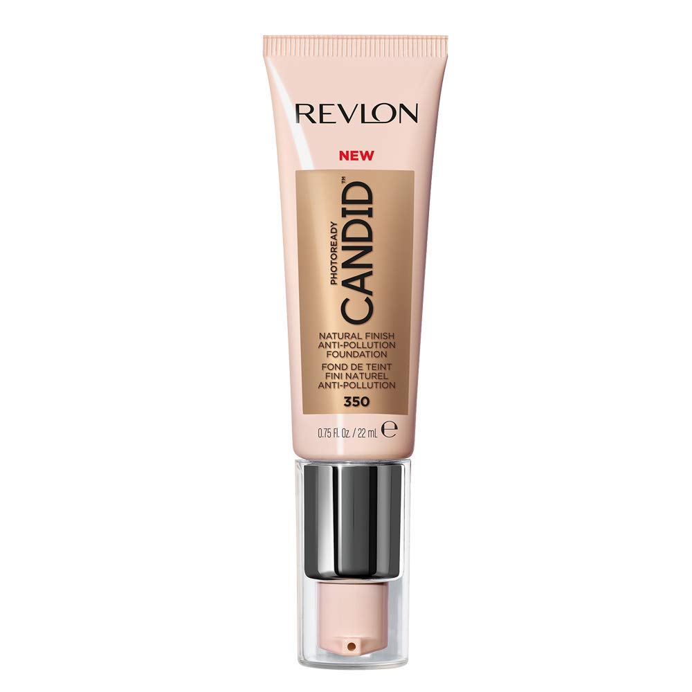 Revlon PhotoReady Candid Natural Finish Foundation, with Anti-Pollution, Antioxidant, Anti-Blue Light Ingredients, without Parabens, Pthalates and Fragrances; Natural Tan.75 Fluid Oz