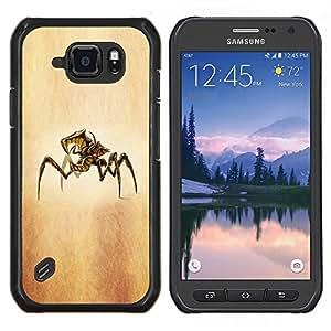 LECELL--Funda protectora / Cubierta / Piel For Samsung Galaxy S6Active Active G890A -- Cosecha del otoño --