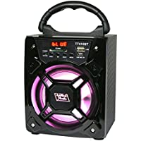 6' 200 Watts Portable Multimedia Speaker & Changing Colored Light - Black