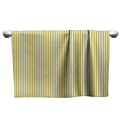 Premium Grey and Yellow,Circus Tent Inspired Vintage Retro Stripes Modern Image, Pale Yellow Beige and White,Sweat Towel for car seat ()