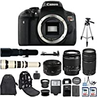 Canon EOS Rebel T6i 24.2 MP Digital SLR Camera with Canon EF-S 18-55mm IS Lens + Canon 75-300mm Zoom Lens + Canon EF 50mm f/1.8 II Lens + 500mm Preset Telephoto Lens + 650-1300mm Zoom Lens Bundle Noticeable Review Image