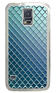Samsung Galaxy S5 materials metalic silver blue 3 PC Custom Samsung Galaxy S5 Case Cover Transparent