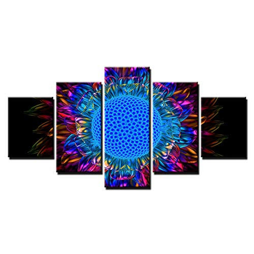 YYJHMK Wall Art Pictures Home Decor Hd Prints Canvas Work 5 Pieces Abstract Sunflower Petal Paintings Sunburst Daisy Flower Poster 10X15 10X20 10X25Cm
