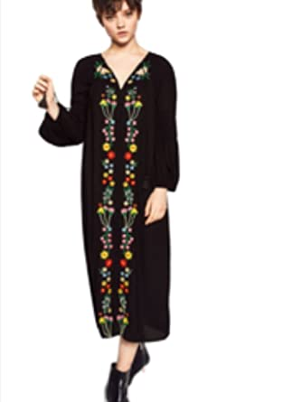 Zara Midi Embroidered Dress S Bnwt At Amazon Women S Clothing Store