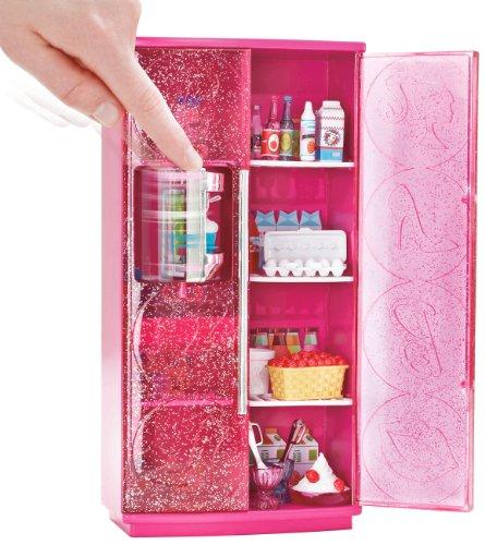 Barbie Mattel T9081 Möbel: Kühlschrank mit Softeis-Bereiter: Amazon ...