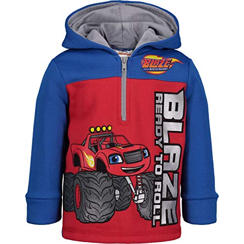 Blaze and The Monster Machines Boys' Fleece Hoodie Pullover Sweatshirt w Zipper (Red, 5)