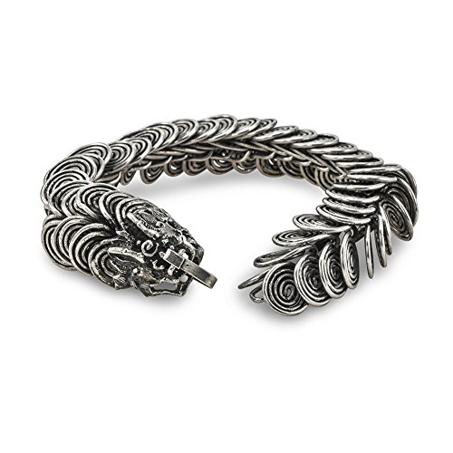 - Culture Cross Handmade Vintage Silver Coil Hill Tribe Dragon Bracelet - Jewelry for Men and Women | Traditional Ethnic Miao Hmong Design
