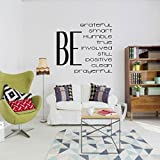 Christian Quotes Wall Decal - Gordon B Hinckly 6 Be's Vinyl Home Decor for Teenagers and Children - LDS Bedroom, Living Room, Playroom Decor