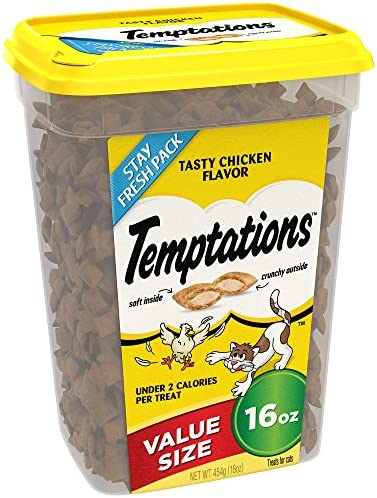 Temptations Classic Treats For Cats Tasty Chicken Flavor 16 Ounces Pack Of 4