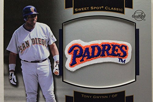 2003 Upper Deck Patch - Tony Gwynn SD Padres 2003 Upper Deck #P-TG1 Sweet Spot Souvenir Logo Patch