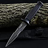 7'' TACTICAL COMBAT BOOT KNIFE Survival Hunting MILITARY BOWIE Fixed Blade SHEATH