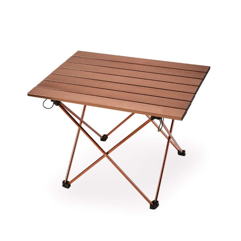 Medium LINHU Table Pliante en Plein air Ultra légère portable Pliante en Aluminium Table de Camping Table de Pique-Nique Deux Tailles,M
