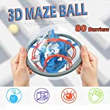 Euone  Labyrinth Toy Clearance Sale , Labyrinth Puzzle Brain Teaser Game 3D Maze Ball Toy 80 Barriers for Kids