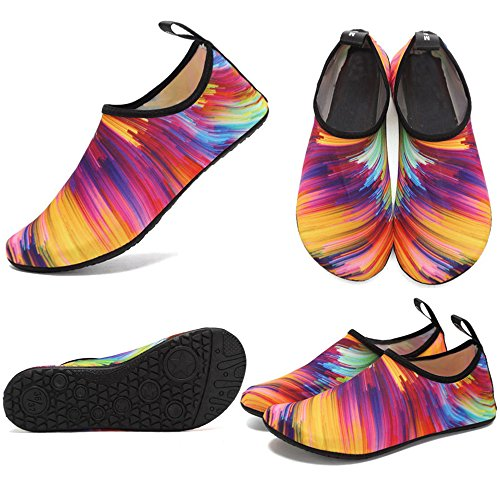 CIOR Leichte Aqua Socken Quick-Dry Wasser Schuhe Mutifunctional Barfuß Für Strand Pool Surf Yoga Übung Bunt