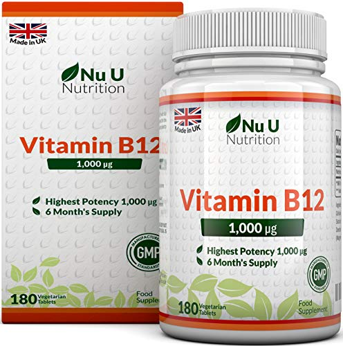 Vitamin B12 Methylcobalamin 1000mcg 180 Tablets (6 Month's Supply) Vitamin...