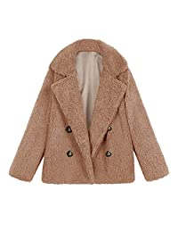 Jackets AfterSo Womens Winter Warm Button Coats Parkas Outwear Overcoat