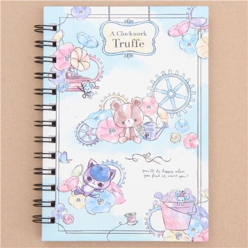 (Cute Notebook with Flowers from Japan, A Clockwork Truffle)